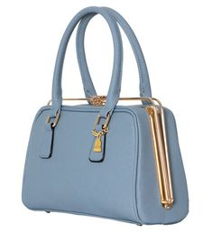 7187b1807f Light Blue She Metal Handbag