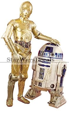 10 Inch C-3PO R2-D2 Droid C3PO R2D2 BB8 Droids Star Wars Episode IV 4 A New Hope Removable Wall Decal Sticker Art Home D @ niftywarehouse.com
