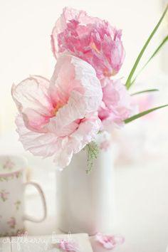 DETAILS: crepe paper flowers