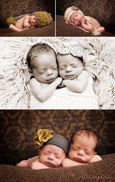Newborn twins - because my dreams tell me the next pregnancy will be twins
