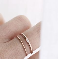 """What we love most about @vraiandoro is their simple and elegant designs, like this understated baguette diamond ring! It also helps that their jewelry is so affordable, as they say """"diamonds without the retail markups!"""" For only $250 you could be wearing this ring as early as next week! Head on over to @vraiandoro to see more of their gorg designs! xoxoxo"""