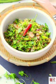 Kerabu Kacang Botol (Asian Style Winged Beans Salad) Medley of Asian ingredients for its refreshing crunchy deliciousness.