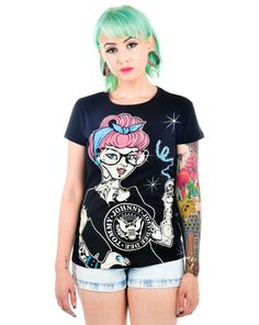 SLASHBACK T-SHIRT - PUNK ROCK CINDY