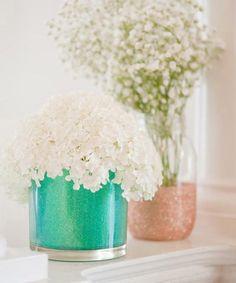 Botes de cristal decorados con purpurina - Decoratrix   Blog de decoración, interiorismo y diseño