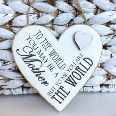 Mom / Mum Gift You mean the world Sign Mum by OurPrettyHouse