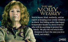 I'm 100% okay with getting Mrs. Weasley. Take the quiz to find out which Order of the Phoenix member you are.