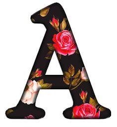 Love People, Alphabet, Monogram, Black, Letters, Black Backgrounds, Hush Hush, Love, Roses