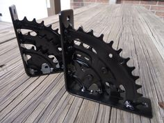Cool Bicycle Sprocket Shelf Brackets by ScrapyardArt on Etsy