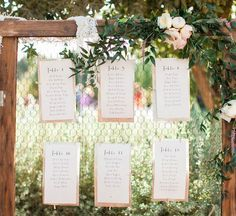 17 Unique Seating Chart Ideas For Weddings - Mon Cheri Bridals