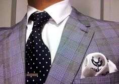 Love the patterned pocket square.