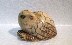 Antiue Netsuke Bird, Signed