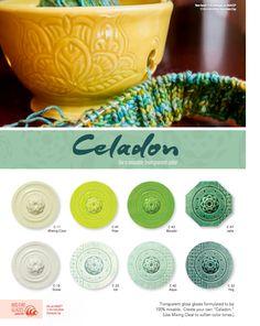 Mixing Clear Gallon Amaco Celadon Glazes