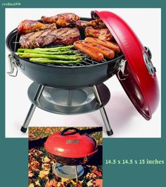Visit The Home Depot To Buy Cuisinart 14 In. Portable Charcoal Grill In Red