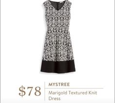 Fit and flare is my preferred dress style. I like this one because of the pattern.