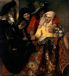 Jan Vermeer van Delft-Balkonszene (Bei der Kupplerin)