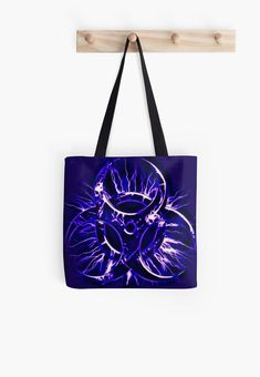 Biohazard warning, bio waste sign, symbol, purples • Millions of unique designs by independent artists. Find your thing. Redbubble Tote bags - #redbubble #bags #accessories #womens #style #casual Also available as T-Shirts & Hoodies, Men & Women Apparel, Stickers, iPhone Cases, Samsung Galaxy Cases, Posters etc. Large Bags, Small Bags, Samsung Galaxy Cases, Iphone Cases, Medium Bags, Cotton Tote Bags, Cool Shirts, Are You The One, Cool Stuff