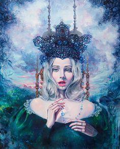 Self-Crowned Tanya Shatseva Acrylic on canvas 2016. http://ift.tt/1YhzEZ7