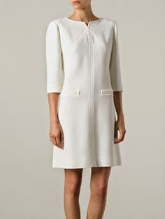 2cce443cac476 Picture Robe Courrege, Robe Chemisier, Petites Robes Blanches, Mode Année  60, Tailleur