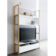 1000 images about meuble tv bibliotheque on pinterest for Meuble etagere tv