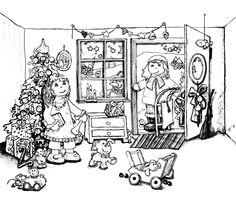 Ausmalbild Weihnachten 2012_01