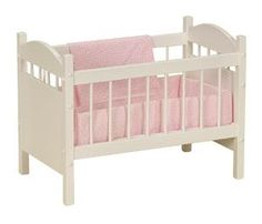Your little gift will love putting her baby doll to bed in this American made Wooden Crib.