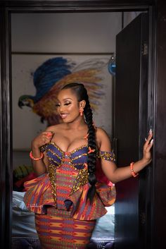 Ghana Traditional Wedding, African Fashion Dresses, Fashion Outfits, Kente Styles, My Prince Charming, Classy Dress, Get Dressed, My Outfit, Wedding Photos