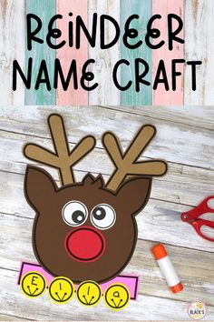 This reindeer craft is designed especially for students in Preschool and Kindergarten. Children will have a blast cutting and gluing together a reindeer from a simple template. This craft makes an adorable display for hallways, bulletin boards and classroom doors. Kindergarten Crafts, Teaching Kindergarten, Preschool Crafts, Teaching Resources, First Grade Classroom, Primary Classroom, Kindergarten Classroom, Reindeer Names, Reindeer Craft