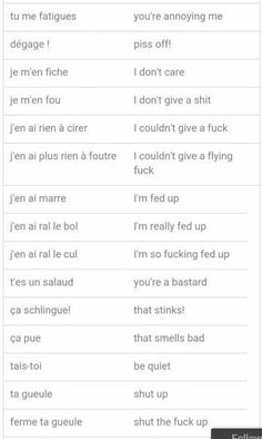 some french swear words and phrases. can be useful if someone asks u to say something in french bc it's soooo hot – GAO Maggie some french swear words and phrases. can be useful if someone asks u to say something in french bc it's soooo hot – GAO Maggie – French Language Lessons, French Language Learning, French Lessons, English Lessons, Learn English, German Language, Spanish Lessons, Japanese Language, Spanish Language