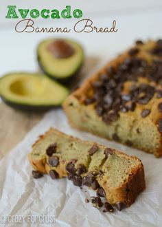 Avocado Banana Bread - a healthier banana bread! Can be made without any butter or oil, just avocado. And you don't taste the avocado!