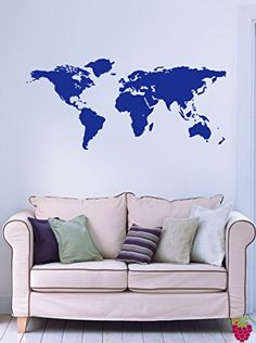 World map dots via muralsyourway future remodel world map earth globe science geography decor wall mural vinyl decal sticker m017 205 gumiabroncs Images