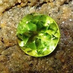 Natural Peridot Cutting Bundar 1.25 Carat