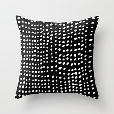 Dots Throw Pillow by Marie Yates $20
