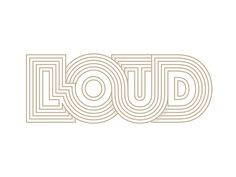 Loud designed by Yoga Perdana. Connect with them on Dribbble; the global community for designers and creative professionals. Graphic Design Letters, Graphic Design Typography, Lettering Design, Graphic Design Illustration, Hand Lettering, Branding Design, Logo Design, Japanese Typography, Design Web