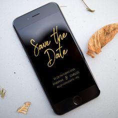 Já pensou em fazer um Save the Date virtual? A @lembredemim.design faz modelos no estilo da papelaria do seu casamento e você pode enviar por e-mail whatsapp ou Facebook. Fala com eles! . Veja mais no Instagram @lembredemim.design . Site: lembredemim.com.br