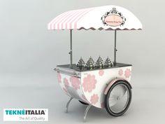 "Tekneitalia -  Gelateria ""Dolce Vita"" - by #tekneitalia made in italy www.tekneitalia.com - Gibraltar, Spain - Ice cream cart (gelato cart) model: Katerina"
