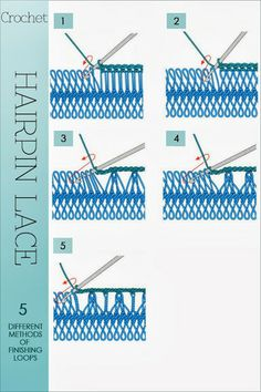hairpin lace tutorial | Needlecrafts-Crochet, Hairpin Lace ..★ Teresa Restegui http://www.pinterest.com/teretegui/ ★..