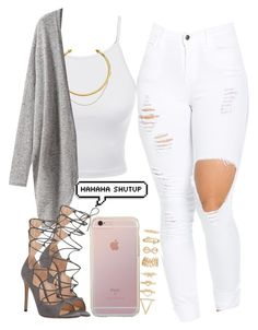 """""""We'll be outlaws"""" by pinkliquor-xo ❤ liked on Polyvore featuring LE3NO, OBEY Clothing, Gianvito Rossi and Forever 21"""