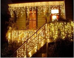 Free Shipping:Christmas Outdoor Decoration Curtain Icicle String LED Lights 220V Item specifics  Light Source:LED Bulbs  Power Source:AC  Voltage:220V  Wattage:0-5W  Is Dimmable:No   Is