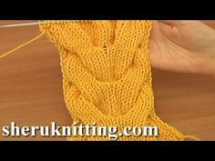▶ Horseshoe Cable Stitch Pattern Knitting Tutorial 15 A Double Cable Stitch - YouTube