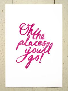 Project Nursery - Oh the Places You'll Go Print