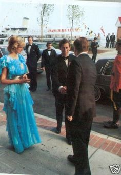 Charles & Diana. Love that blue dress!!