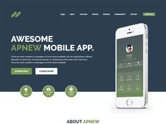 Apnew - WordPress Landing Page Theme  by HasTech