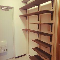 Entrance/下駄箱/DIY棚/靴棚DIY/UR賃貸/ペンキをペタペタのインテリア実例 - 2015-10-10 06:27:00 | RoomClip (ルームクリップ)