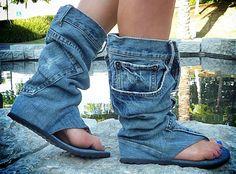 Hahahahahahahahahahaha... jeans sandal boots