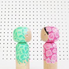 Spring Kokeshi Dolls
