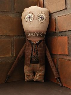 Creepy Rag Doll Plush Monster  Malcolm