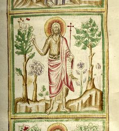John the Baptist | Vitae patrum | Italy, Naples | between 1350 and 1375 | The Morgan Library & Museum