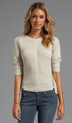 Best 12 Shop for Autumn Cashmere Studded Rib Cable Crew Sweater in Hemp at REVOLVE. Free day shipping and returns, 30 day price match guarantee. Professional Wardrobe, Warm Dresses, Knit Fashion, Revolve Clothing, Knitting Designs, Sweater Weather, Knit Patterns, Crochet Clothes, Autumn Winter Fashion