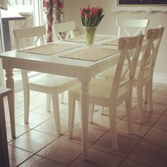 white ikea extension table ingatorp