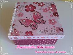 Caixa em MDF decorada. #mariazinhaartesanato #mdf #handmade #artesanato #caixasdecoradas